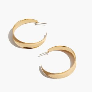 Madewell Sculptural Statement Hoop Earrings